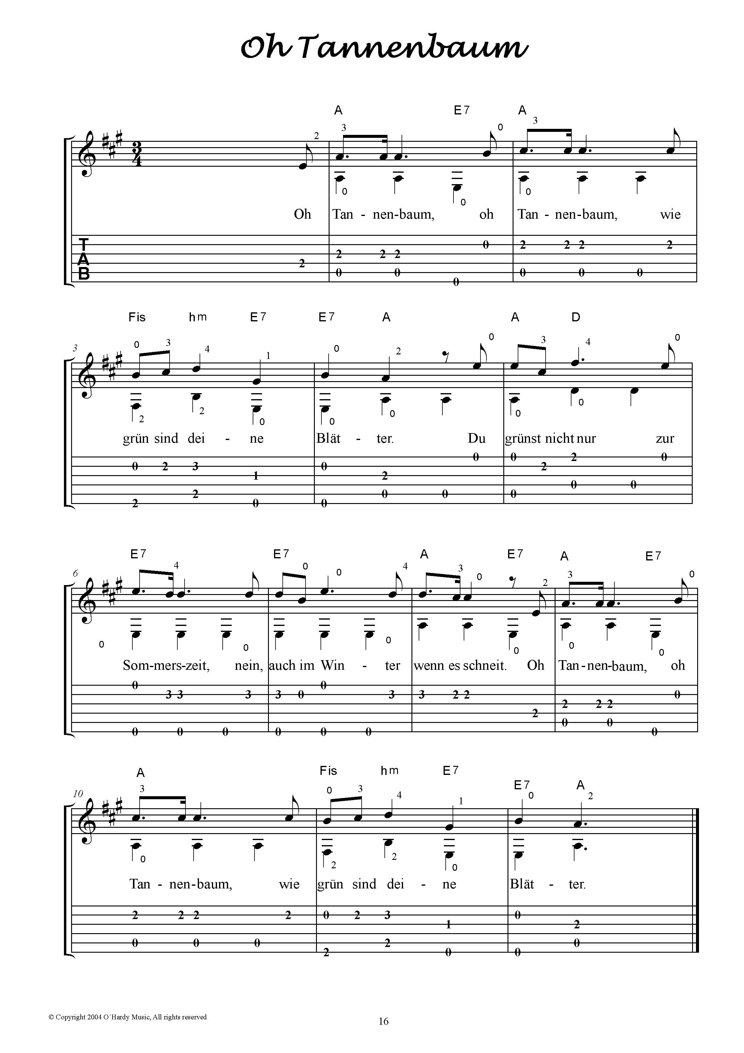 Die schönsten Weihnachtslieder für Gitarre Solo